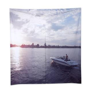 large custom printed shower curtain