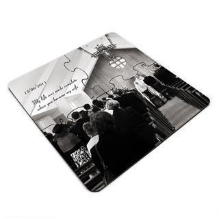 personalised jigsaw coasters wedding photo