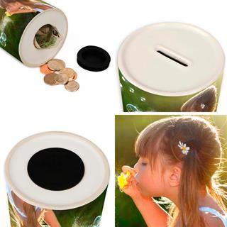 money jar with photos