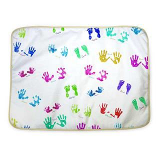 baby changing mats customised hand prints