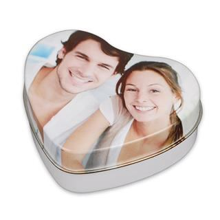 personalised heart shaped tin