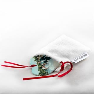 photo ornament drawstring pouch