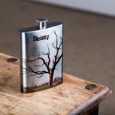 Hip Flask with Photo
