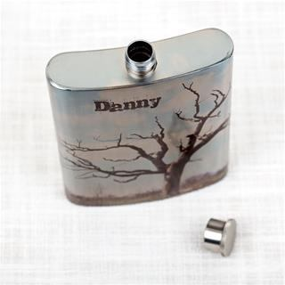 Hip flask personalised design with text