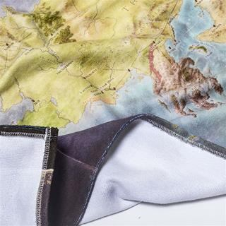 toalla de playa personalizada mapa