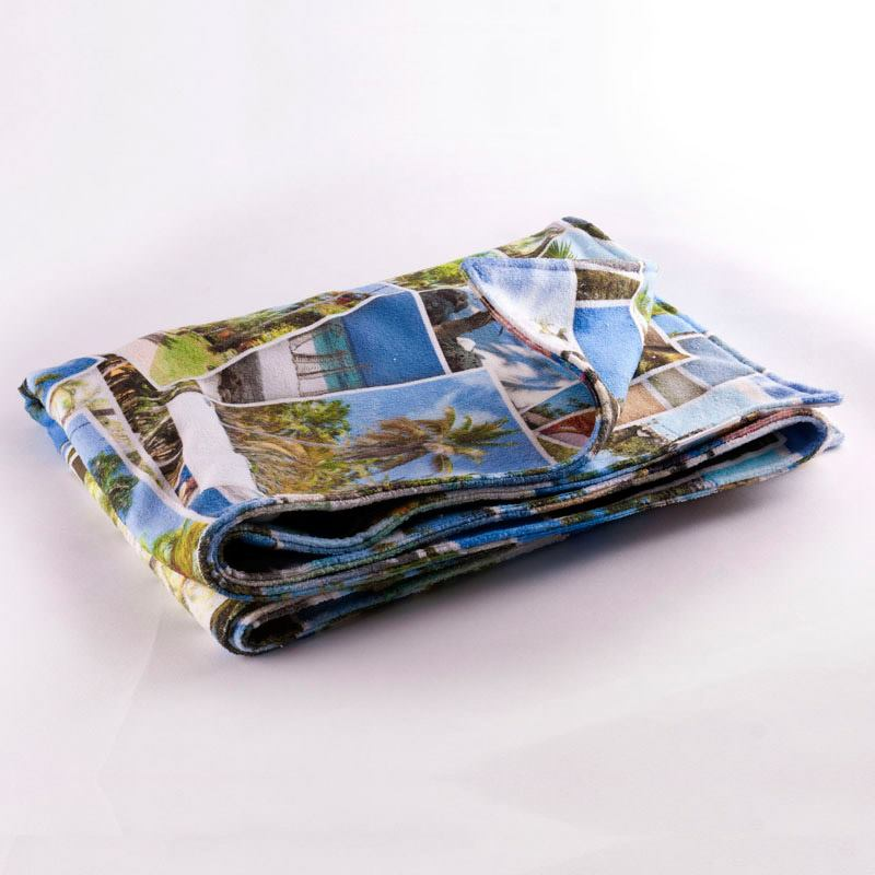 Strandtuch Mit Fotocollage · Fotocollage Selbst Gestalten Auf Handtuch ·  Handtuch Mit Mehreren Fotos Bedrucken ...
