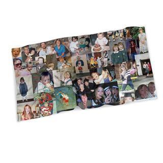 serviette de plage imprimée avec montage photos