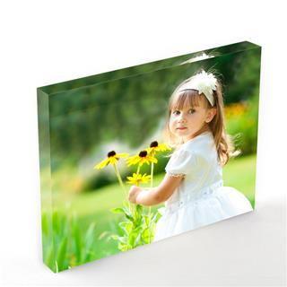 photo printed on acrylic block
