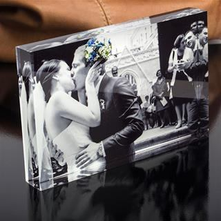 wedding acrylic block