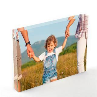 custom printed acrylic block