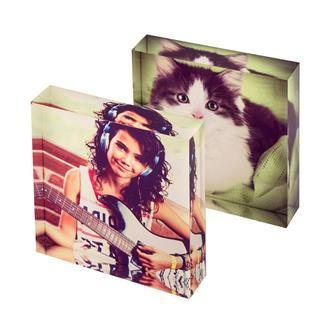 insagram photos in acrylic blocks