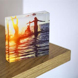 cornice in vetro acrilico quadrata