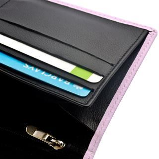 ladies leather travel wallet interior