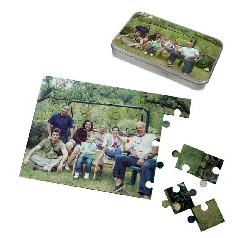 family in park photo puzzle
