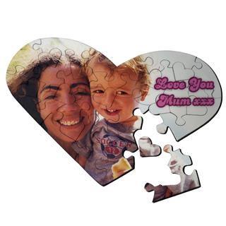 puzzle a forma di cuore festa della mamma