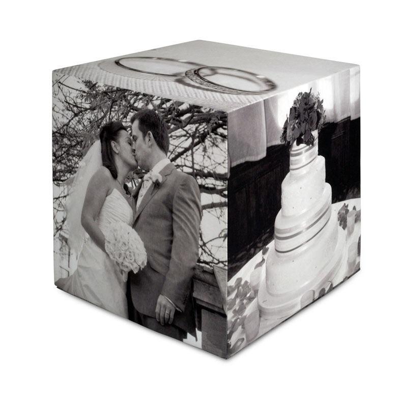 Cube photo personnalisé noir et blanc