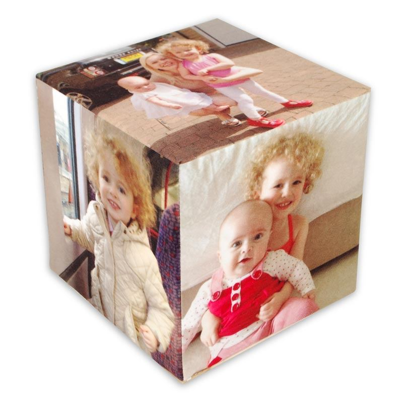childrens personalised soft photo cube