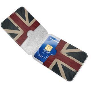 Personalised card wallet UK flag design