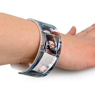 personalised cuff bracelet on model