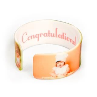 congratulations photo bracelet