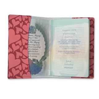 Etui passeport personnalisé coeur