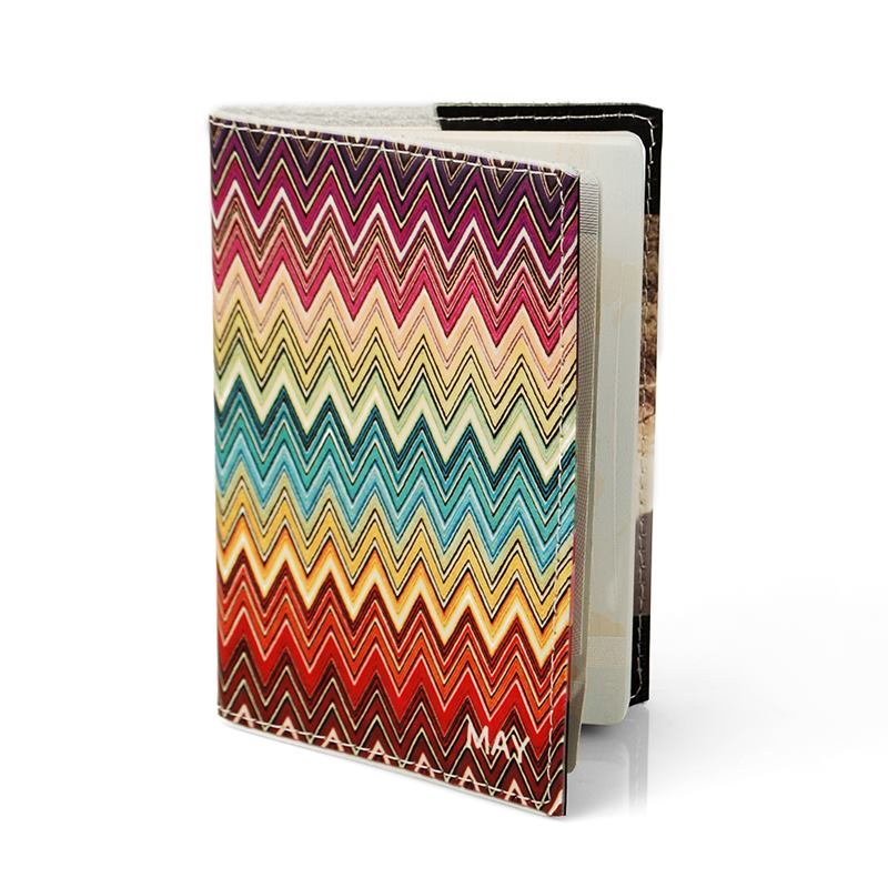 passport cover zig zag design