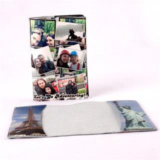 Etui passeport avec photos famille