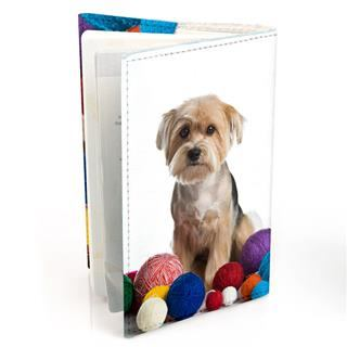 dog photo personalised passport cover