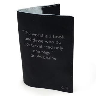 porta passaporto personalizzato con scritte