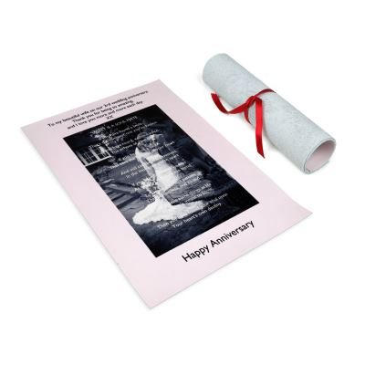 Personalised Love Contract Scroll