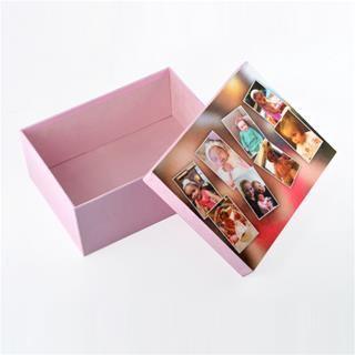 scatola con foto collage