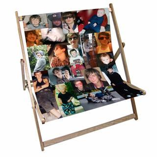 photo montage double deck chair