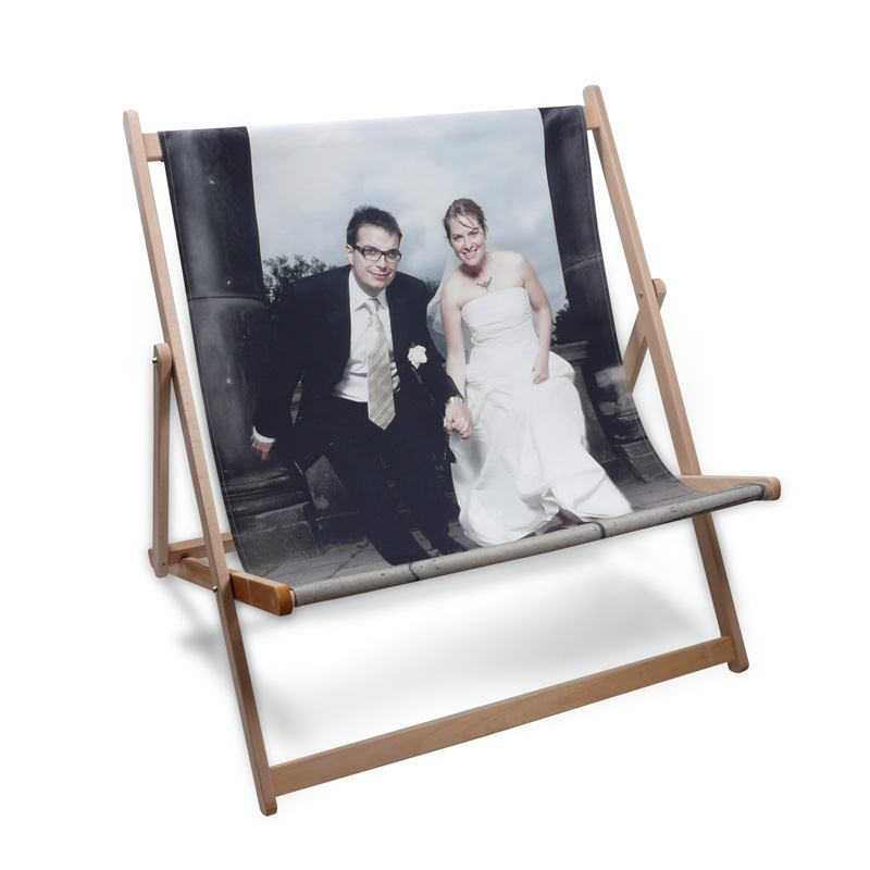 personalised double deck chair bride and groom