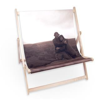 photo printed double deck chair