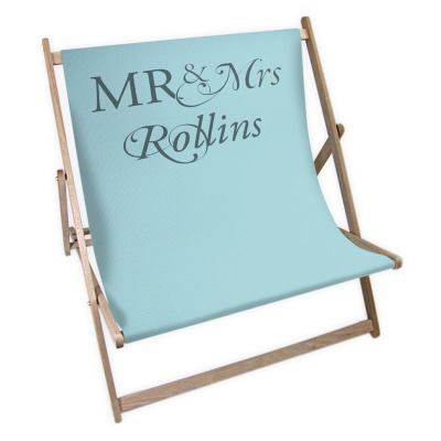 Mr & Mrs 5th Anniversary Deckchair