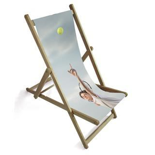 personalized photo deck chair