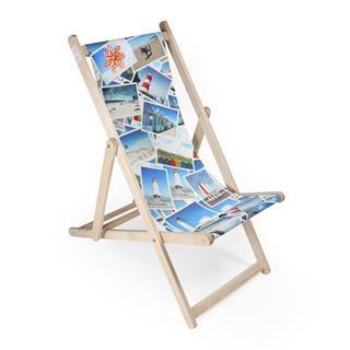 stampa collage foto su sedia a sdraio