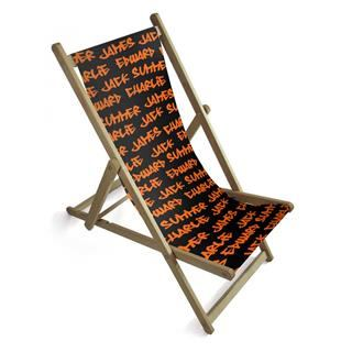 personalised deck chair with text and quotes