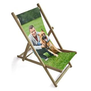 customized photo deck chair