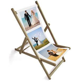 personalised wedding photo montage deckchair