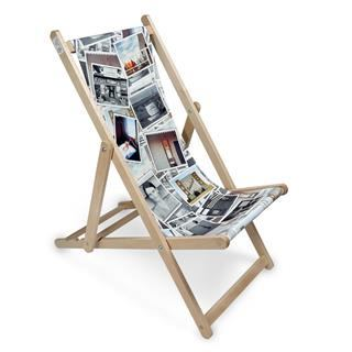 custom photo collage deckchair