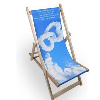 sedia sdraio personalizzata nuvole testo