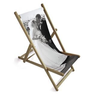 personalised wedding photo deckchair