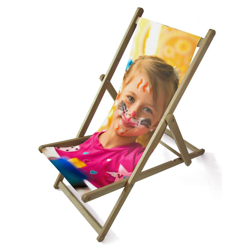 personalised single deck chair with photo