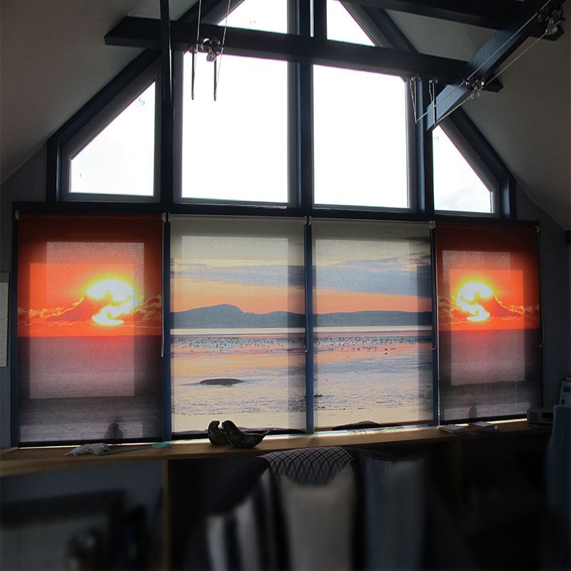 photo blinds sunset design