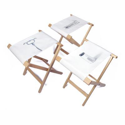 Fällbar campingstol med eget tryck