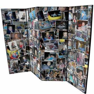 Biombos personalizados con collage