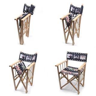 sillas de director personalizadas en diferentes posiciones