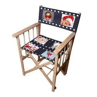 silla de director personalizada con fotos de navidad