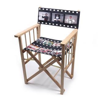 silla de director de cine personalizada con fotos